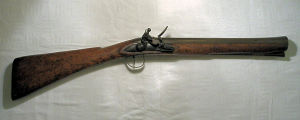 Click to enlarge a very good early brass barrelled ship's blunderbuss by Birchett, circa 1700