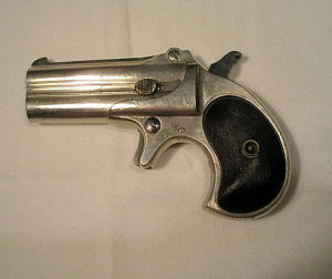 Click to enlarge a nice, early .41 rimfire over/under Remington derringer
