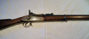 Click to enlarge a very good 577 Mk.2 three band Volunteer Snider rifle