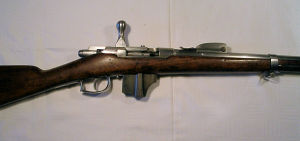 Click to enlarge a good 11.3mm x 51R Dutch Beaumont Vittali bolt action repeating rifle