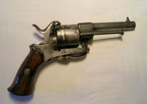 Click to enlarge a 7mm. Liege prooved pinfire revolver