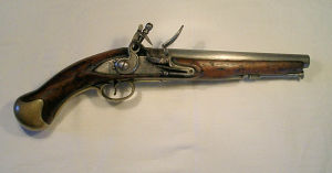 Click to enlarge an arsenal shortened Sea Service flintlock pistol