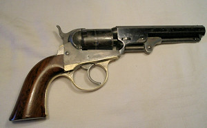 Click to enlarge a .31 double action Cooper five shot pocket revolver