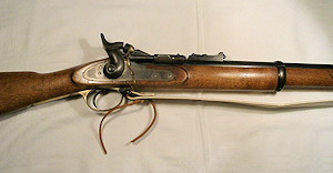Click to enlarge a good three band .577 Snider Mk.3 with large locking catch
