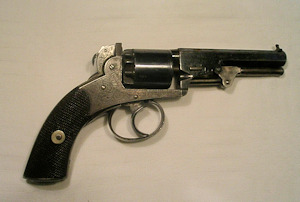 Click to enlarge a 120 bore Webley Bentley five shot double action percussion revolver