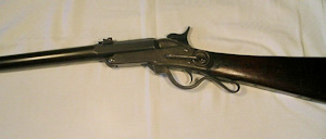 Click to enlarge a .52 capping breech loader Maynard saddle ring carbine