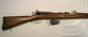 Click to enlarge a 7.5 x 53.5 straight pull Schmidt Rubin Swiss battlefield rifle