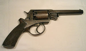 to enlarge a 54 bore Beaumont Adams double action percussion revolver retailed by Trulock and Harris