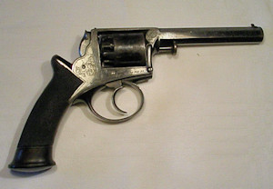 Click to enlarge a 120 bore Model 1851 double action only five shot Adams percussion revolver