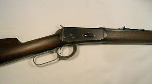 Click to enlarge a Model 94 octagonal barrelled Winchester rifle in 32/40 obsolete calibre