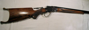 Click to enlarge a Sharps Borshardt Zishang rifle in 32/40 in fine condition and with a mint bore