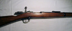 Click to enlarge a 11.15 x 60R Mauser rifle
