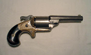 Click to enlarge a .31 Moore's teat fire revolver